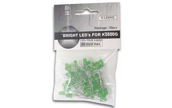 50 Pack Green LED's K/LEDHG