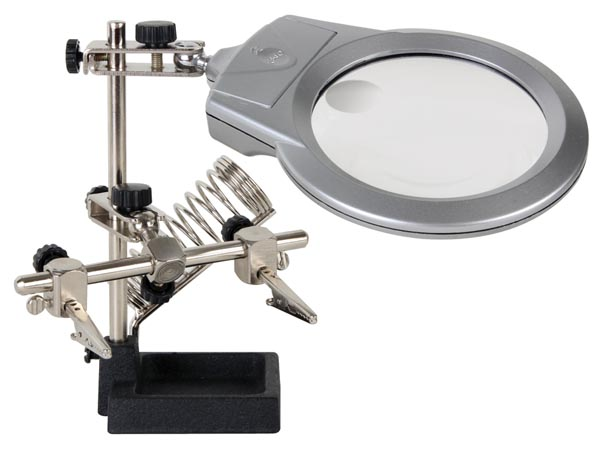 Helping Hand w/ Magnifier, LED Light & Soldering Stand