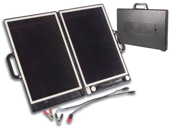 Compact 13W Solar Generator Brief Case Design