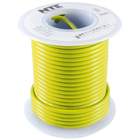 Hook Up Wire 300V Stranded 24AWG Yellow
