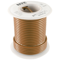 Hook Up Wire 300V Solid 22AWG Brown