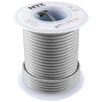 Hook Up Wire 300V Solid 22AWG Gray