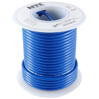 Hook Up Wire 300V Solid 24AWG Blue