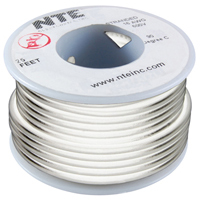 Hook Up Wire 300V Solid 24AWG White