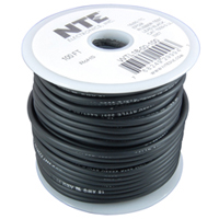 Test Lead Wire Black Stranded 18AWG