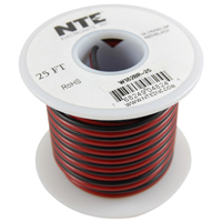 Wire-Bonded Parallel Black/Red 18AWG