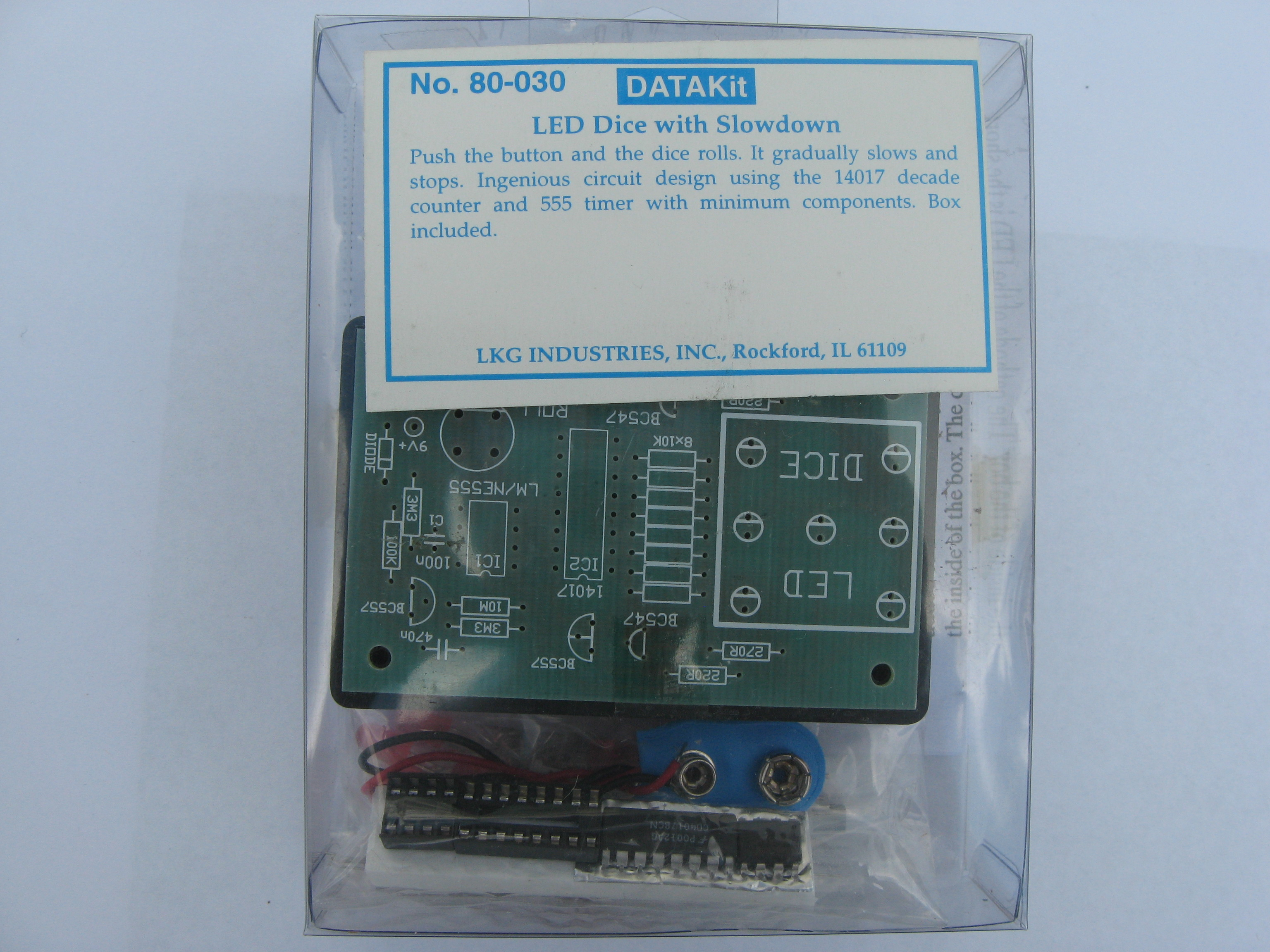Datak 80 030 Led Dice Slowdown Electronic Kit Circuit Diagram Using Timer And Counter Ics With