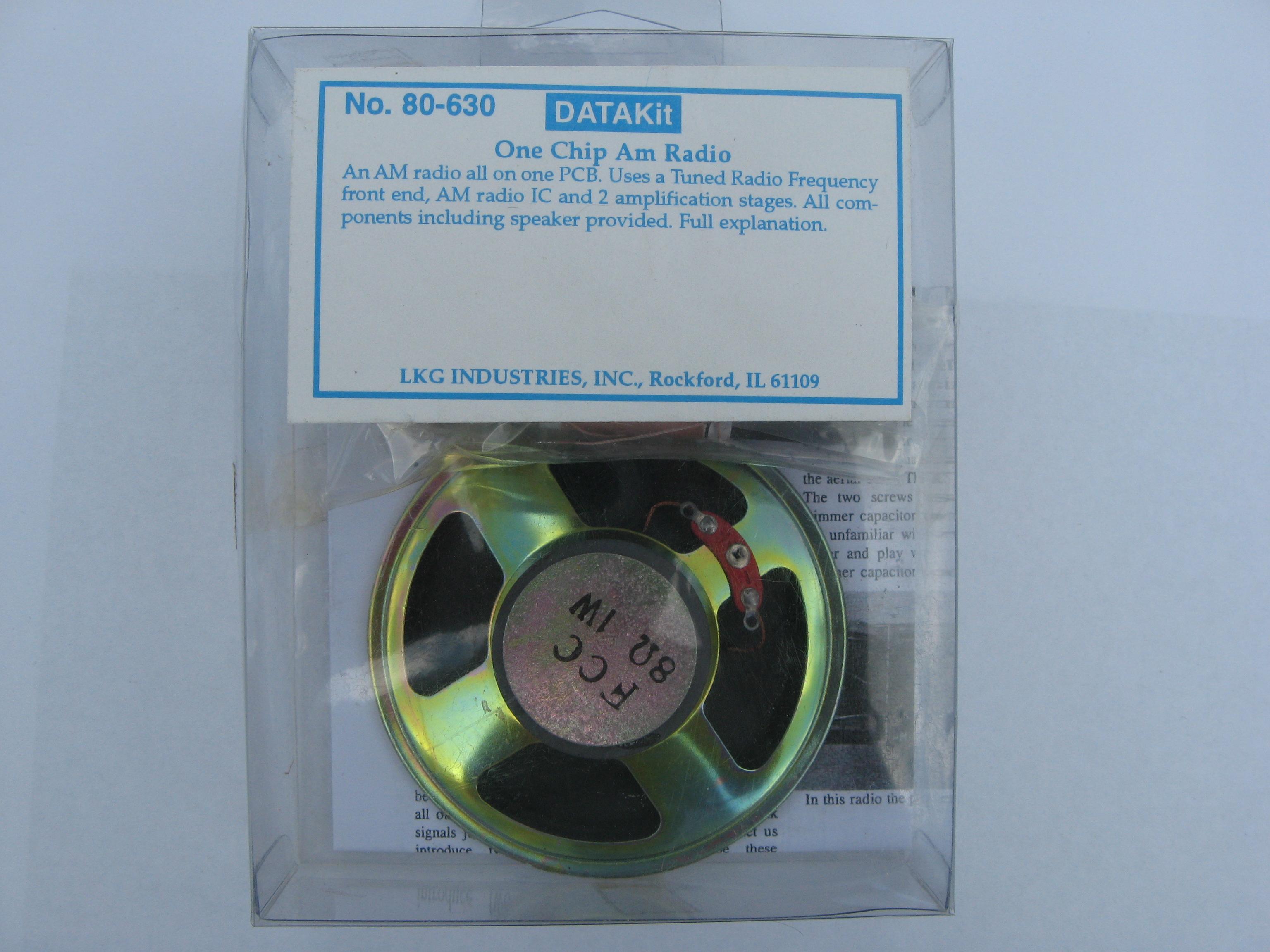 Datak One Chip AM Radio Kit 80-630