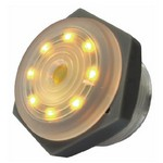 Yellow Lighted Continuous Piezo Sounder